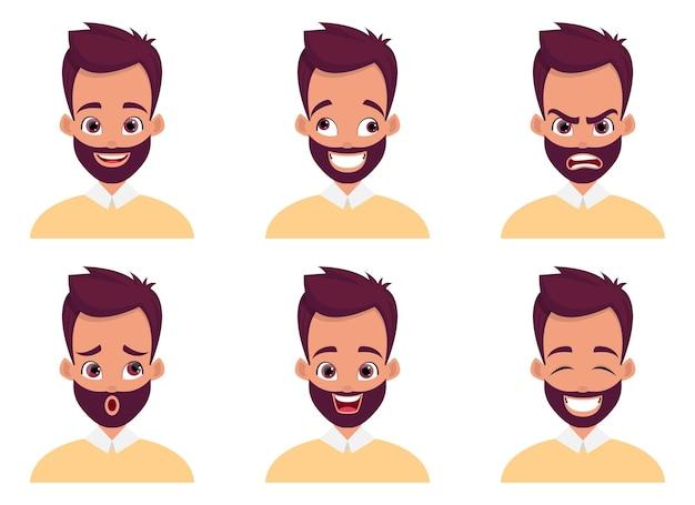 Uomo faccia espressione design illustrazione isolato