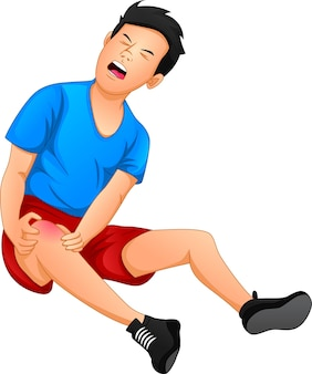 L'uomo ha dolore al ginocchio