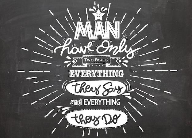 L'uomo ha solo due difetti