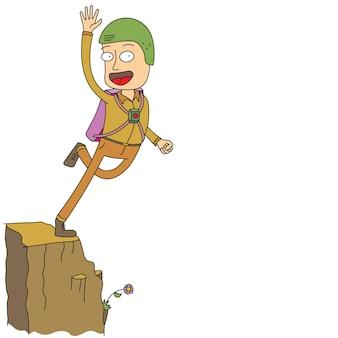 L'uomo che salta dalla scogliera