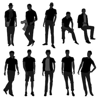 Modello di acquisto di moda maschile uomo uomo.