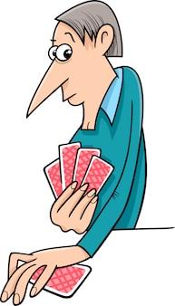 Cartone animato di carte da gioco uomo