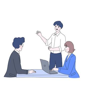 L'uomo presente all'illustrazione del personaggio del capo