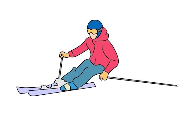 L'uomo cavalca un'illustrazione di snowboard