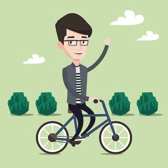 Uomo in bicicletta.