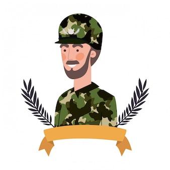 Uomo soldato di guerra avatar personaggio