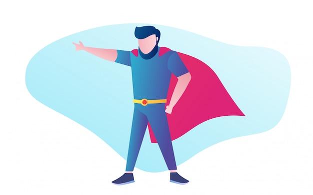 Uomo che indossa il costume da supereroe