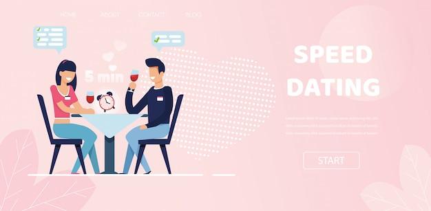 L'uomo donna fa domande flirtare chat a speed dating