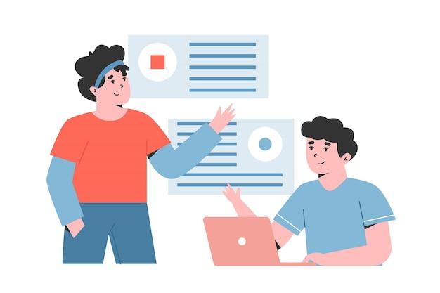 Dipendenti uomo e donna in formazione aziendale
