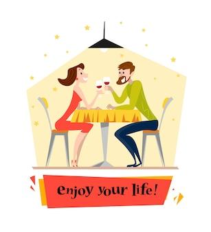 L'uomo e la donna cenano insieme
