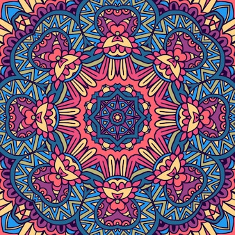 Mandala arabesque seamless pattern
