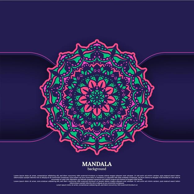 Sfondo mandala. elementi decorativi vintage. sfondo disegnato a mano. islam, arabo, indiano, motivi ottomani.