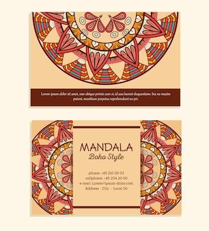 Volantini stile boho mandala