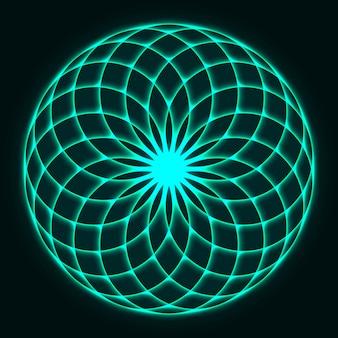 Disegno di mandala fiore della vita. geometria sacra.