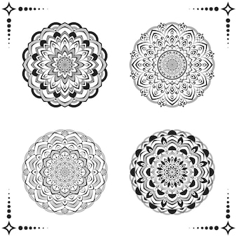 Collezione di disegni di mandala