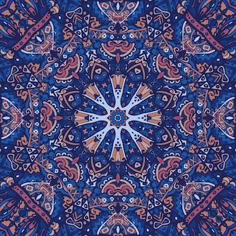 Linee di doodle di mandala sfondo decorato vettore geometrico astratto