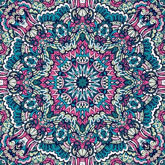 Mandala doodle linee decorate sfondo
