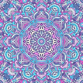 Linee di doodle di mandala decorato sfondo