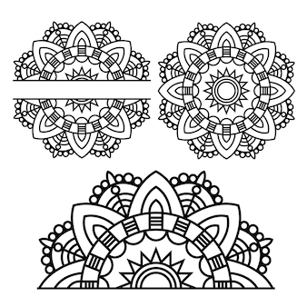 Mandala. elementi decorativi etnici. sfondo di disegno a mano. motivi islamici, arabi, indiani.