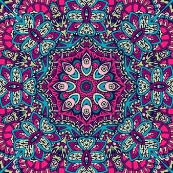 Mandala festival etnico arte seamless pattern