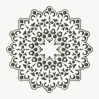 Modello di disegno di sfondo piatto mandala