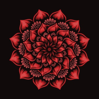 Mandala fiori