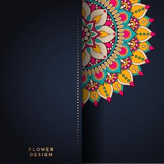 Illustrazione della mandala nel disegno del fiore