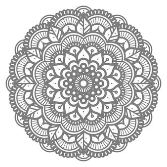 Illustrazione di mandala con stile cerchio per sfondo astratto