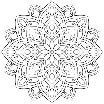 Mandala isolato. ornamento etnico orientale.