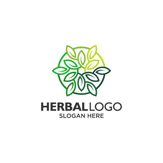 Design del logo mandala e foglia