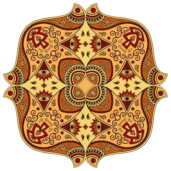 Mandala, mehndi. ornamento decorativo in stile etnico orientale.