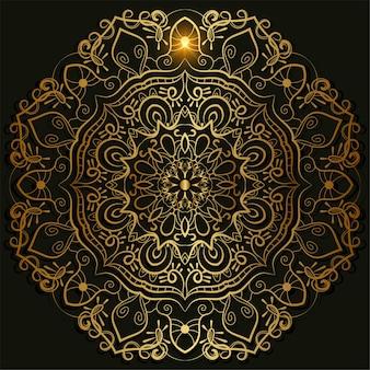 Mandala ornamento o disegno di sfondo fiore.