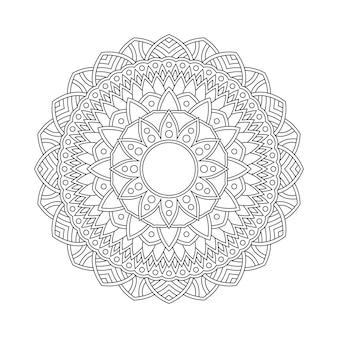 Mandala pattern da colorare pagina libro