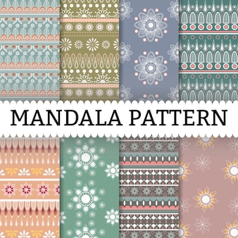 Mandala pattern set background
