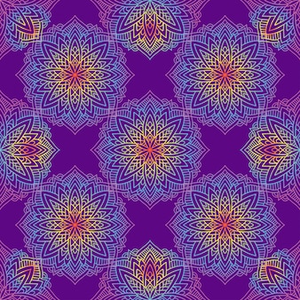 Mandala con motivi indiani.
