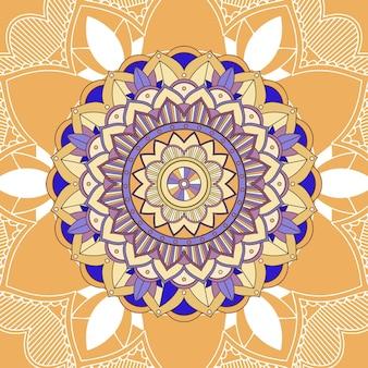 Motivi mandala su sfondo marrone