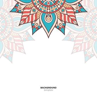 Mandala. round ornament pattern. sfondo etnico orientale