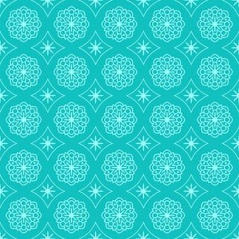 Mandala seamless pattern sfondo. elegante motivo tradizionale. geometrico di lusso batik classico.