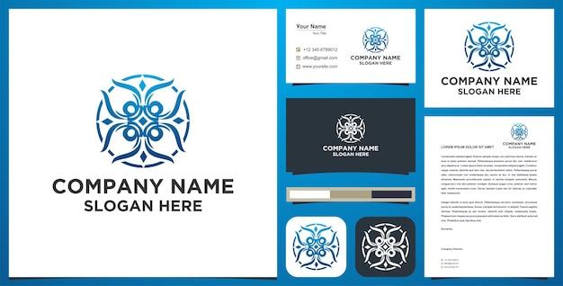 Logo e biglietto da visita in stile mandala
