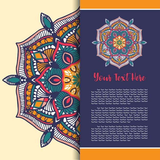 Mandala vintage template card