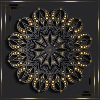 Mandala con effetto 3d