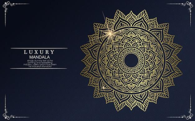Mandala con motivo floreale ornamento