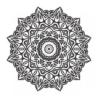 Libro da colorare mandala con stile ornamento