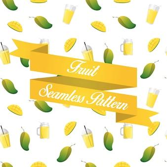 Fondo senza cuciture del succo di frutta di manggo