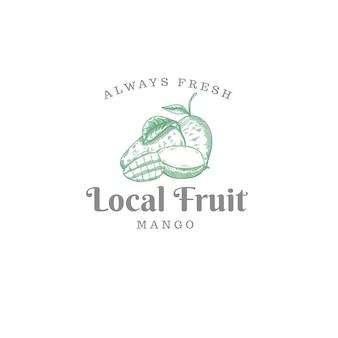Logo astratto delle fattorie di frutta del mango