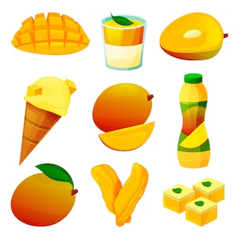 Prodotti alimentari a base di frutta di mango