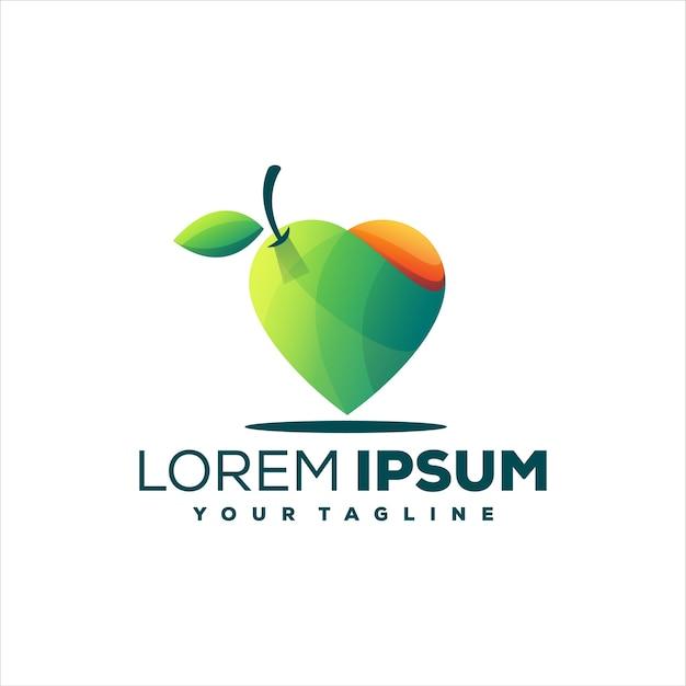 Design del logo gradiente di frutta di mango
