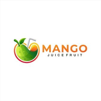 Logo gradiente di frutta di mango