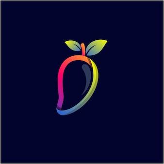 Design del logo a colori sfumati mango