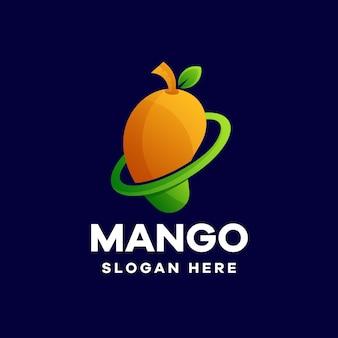 Design del logo sfumato di mango